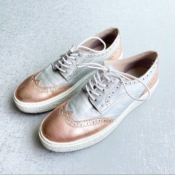 Sey By Seychelles Silver Rose Gold Ideal Sneakers